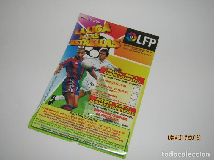 Coleccionismo deportivo: Álbum con VALENCIA del Chicle LA LIGA DE LAS ESTRELLAS Campeonato Nacional de Liga 1996 - 1997 - Foto 2 - 146302754