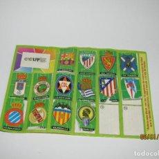 Coleccionismo deportivo: ÁLBUM ESCUDOS EQUIPOS DEL CHICLE LA LIGA DE LAS ESTRELLAS CAMPEONATO NACIONAL DE LIGA 1996 - 1997. Lote 146304442