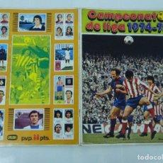Coleccionismo deportivo: ALBUM CAMPEONATO DE LIGA 1974-75 FHER DISGRA. Lote 146334390