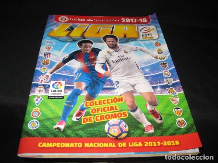 ALBUM CROMOS LA LIGA 2017-2018. 164 CROMOS. (Coleccionismo Deportivo - Álbumes y Cromos de Deportes - Álbumes de Fútbol Incompletos)
