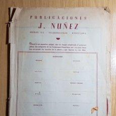 Coleccionismo deportivo: J. NUÑEZ - ALIRON DEL C. DE F. BARCELONA CAMPEON DE LIGA AÑO 48/49 COPA LATINA - INCOMPLETO. Lote 146875846