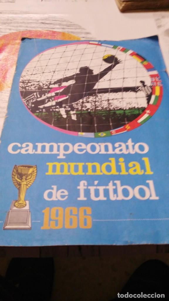 ANTIGUO ALBUM DE FUTBOL INCOMPLETO MUNDIAL FUTBOL 1966 - VER FOTOS (Sammelleidenschaft Sport - Sport-Sammelalben und Sticker - Unvollständige Fußball-Sammelalben)
