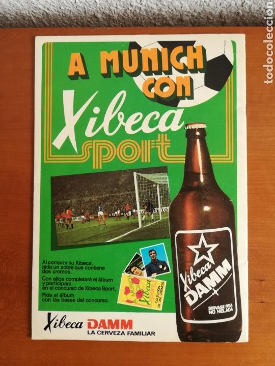 Coleccionismo deportivo: Álbum Xibeca Sport Los equipos de 1era División y 16 Selecciones Mundial Münich Cervezas Damm Cruyff - Foto 27 - 147349516