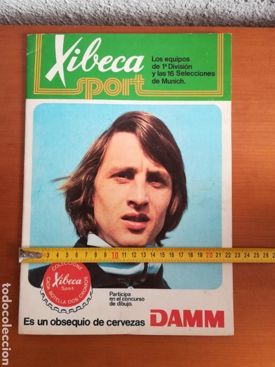 Coleccionismo deportivo: Álbum Xibeca Sport Los equipos de 1era División y 16 Selecciones Mundial Münich Cervezas Damm Cruyff - Foto 28 - 147349516