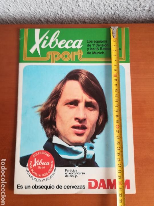 Coleccionismo deportivo: Álbum Xibeca Sport Los equipos de 1era División y 16 Selecciones Mundial Münich Cervezas Damm Cruyff - Foto 29 - 147349516