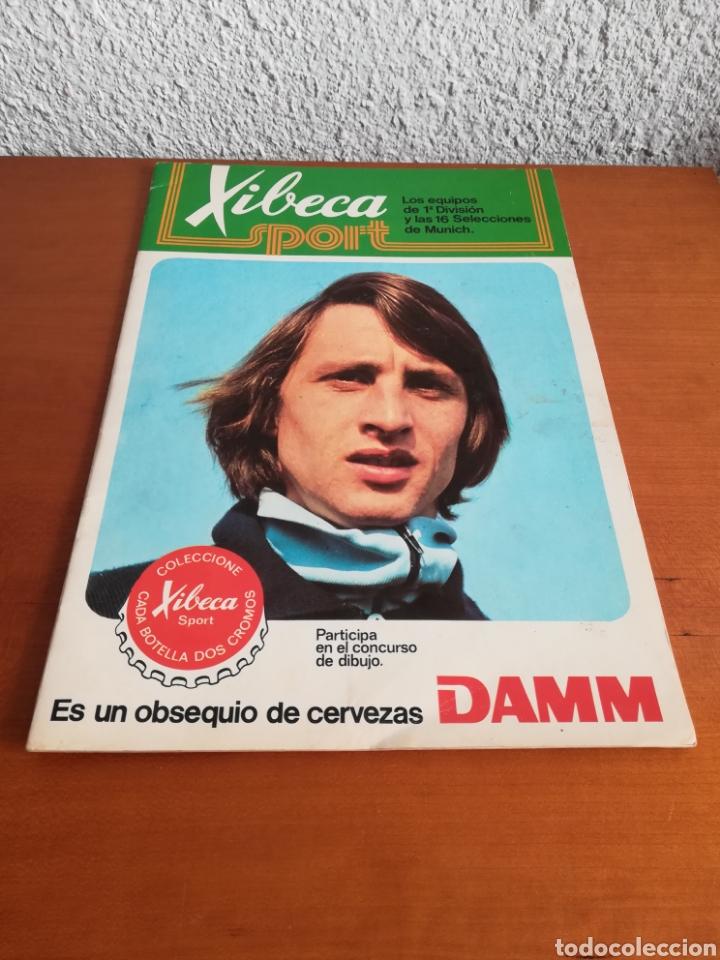 Coleccionismo deportivo: Álbum Xibeca Sport Los equipos de 1era División y 16 Selecciones Mundial Münich Cervezas Damm Cruyff - Foto 4 - 147349516