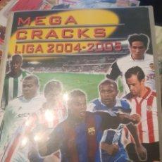 Coleccionismo deportivo: MEGA CRACKS 2004 2005 ARCHIVADOR + 387 FICHAS SIN REPETIR + 6 SOBRES VACIOS + 23 REPETIDOS. Lote 147485802