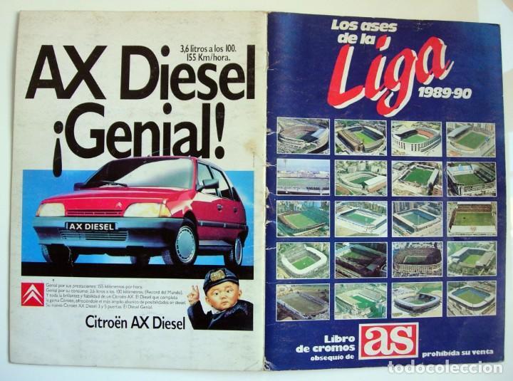 ÁLBUM DE FÚTBOL LOS ASES DE LA LIGA 1989 1990 - 89 90 - DIARIO AS (Coleccionismo Deportivo - Álbumes y Cromos de Deportes - Álbumes de Fútbol Incompletos)