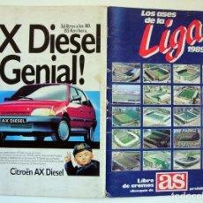 Coleccionismo deportivo: ÁLBUM DE FÚTBOL LOS ASES DE LA LIGA 1989 1990 - 89 90 - DIARIO AS. Lote 147701134