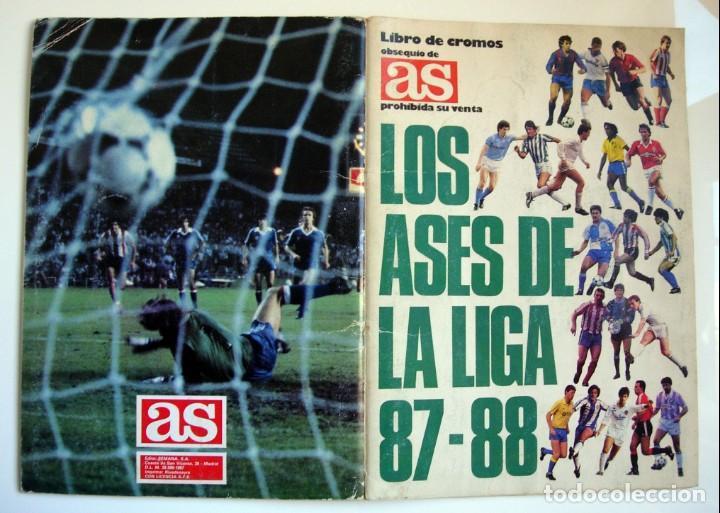 ÁLBUM DE FÚTBOL LOS ASES DE LA LIGA 1987 1988 - 87 88 - DIARIO AS (Coleccionismo Deportivo - Álbumes y Cromos de Deportes - Álbumes de Fútbol Incompletos)