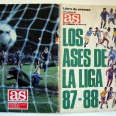 Coleccionismo deportivo: ÁLBUM DE FÚTBOL LOS ASES DE LA LIGA 1987 1988 - 87 88 - DIARIO AS. Lote 147702282