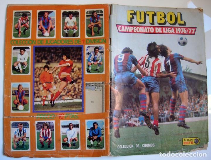 ÁLBUM DE FÚTBOL ÁLBUM ESTE CAMPEONATO DE LIGA 1976 1977 - 76 77 (Sammelleidenschaft Sport - Sport-Sammelalben und Sticker - Unvollständige Fußball-Sammelalben)