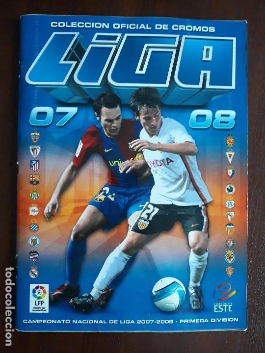 ALBUM DE CROMOS LIGA FUTBOL ESTE 2007/2008 07/08 CASI COMPLETO (Sammelleidenschaft Sport - Sport-Sammelalben und Sticker - Unvollständige Fußball-Sammelalben)
