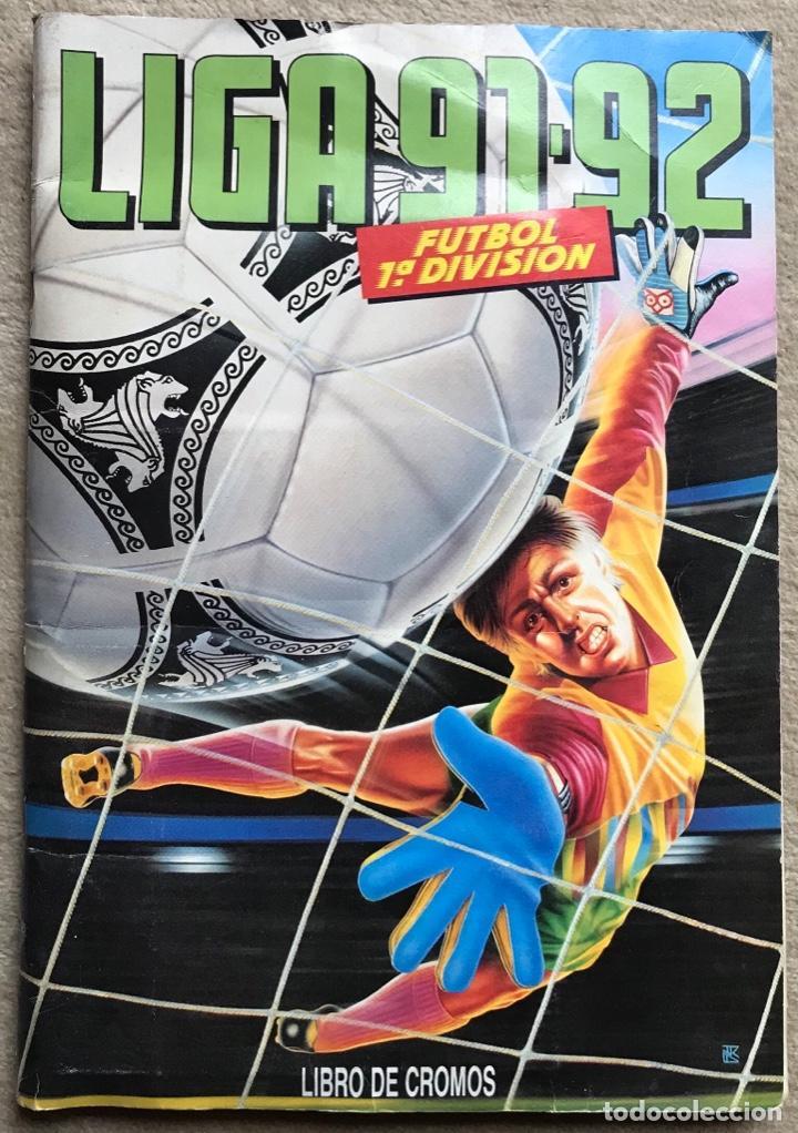 ÁLBUM LIGA 91 - 92 (1991 - 1992) FÚTBOL 1ª DIVISIÓN - EDICIONES ESTE (Coleccionismo Deportivo - Álbumes y Cromos de Deportes - Álbumes de Fútbol Incompletos)