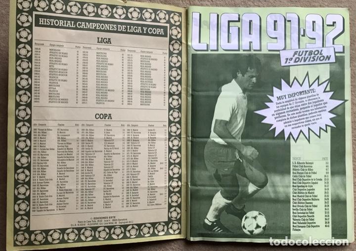 Coleccionismo deportivo: Álbum liga 91 - 92 (1991 - 1992) Fútbol 1ª División - Ediciones Este - Foto 2 - 147981810