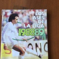 Coleccionismo deportivo: 2 ÁLBUMES LOS ASES DE LA LIGA 88-89 Y 89-90 IMCOMPLETOS. Lote 148409144