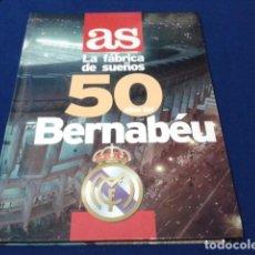 Coleccionismo deportivo: ALBUM AS LA FABRICA DE SUEÑOS 50 AÑOS DEL BERNABEU NUEVO . Lote 148647150