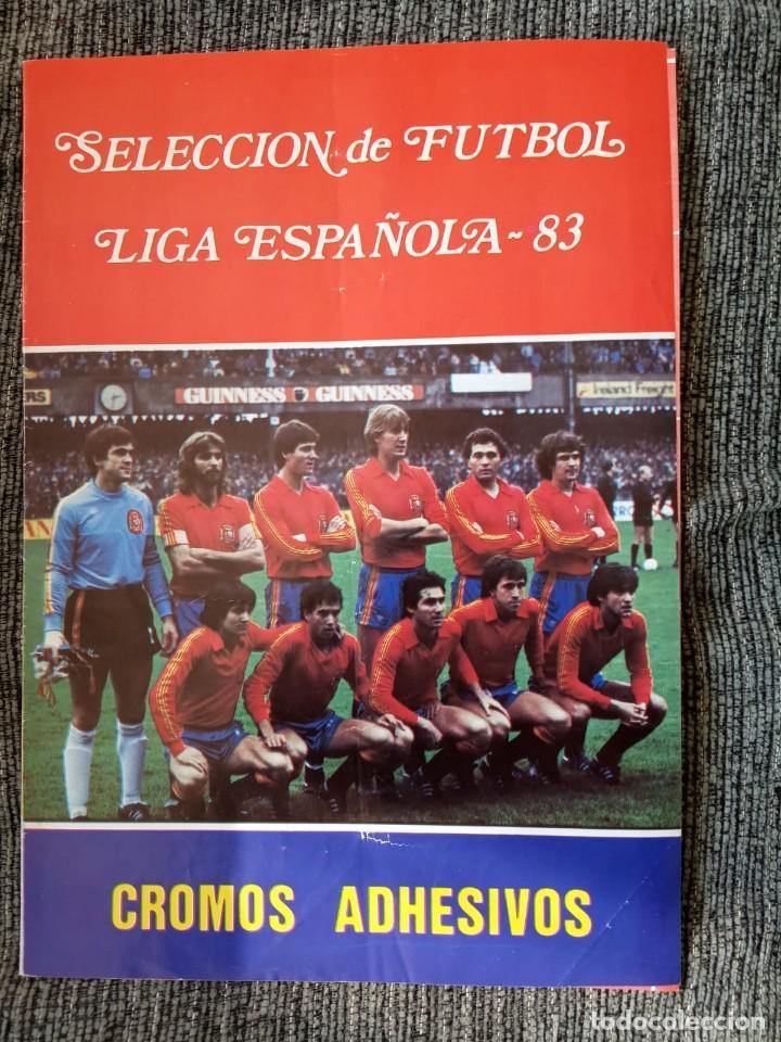 ÁLBUM SELECCIÓN DE FÚTBOL LIGA ESPAÑOLA 83 - VACÍO. (Coleccionismo Deportivo - Álbumes y Cromos de Deportes - Álbumes de Fútbol Incompletos)