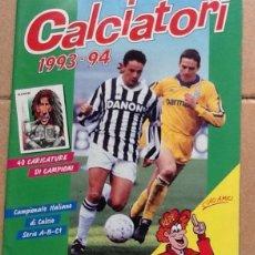 Coleccionismo deportivo: CALCIATORI 1993-94 ALBUM CON 52 CROMOS PEGADOS, PANINI. Lote 149477658