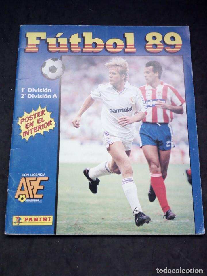 ALBUM DE CROMOS, FUTBOL 89, DE PANINI. (Coleccionismo Deportivo - Álbumes y Cromos de Deportes - Álbumes de Fútbol Incompletos)