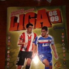 Coleccionismo deportivo: ALBUM 2008/2009 COMPLETO, SOLO A FALTA DE COLOCAS. Lote 149958705