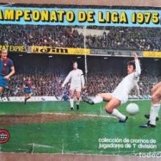 Coleccionismo deportivo: ÁLBUM CON 318 CROMOS - ÁLBUM INCOMPLETO ESTE 1975 1976 - UN CROMO POR CASILLA - ESTE 75 76. Lote 150307110