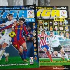 Coleccionismo deportivo: ALBUM LIGA BBVA 2011-12 Y 2012-13 2 ALBUMS-1º A FALTA DE 4 CROMOS 2º CON 293 CROMOS-MUY BUEN ESTADO. Lote 150668154