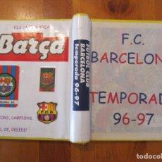 Coleccionismo deportivo: LOTE ALBUM RECORTES F.C. BARCELONA DIARIO SPORT 1996-97 Y ALGUNOS CROMOS PANNINI BOLLYCAO PANRICO. Lote 150894110