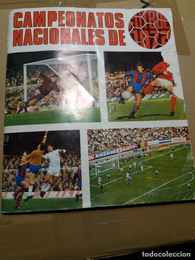 ALBUM CAMPEONATOS NACIONALES DE FUTBOL 1971 - 1972, 71 - 72. TIENE 240 CROMOS. (Coleccionismo Deportivo - Álbumes y Cromos de Deportes - Álbumes de Fútbol Incompletos)