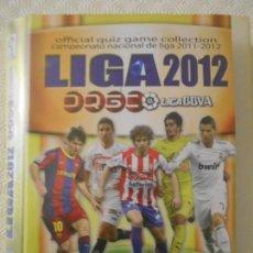 Coleccionismo deportivo: LIGA 2012. LIGA BBVA. OFFICIAL QUIZ GAME COLLECTION. CAMPEONATO NACIONAL DE LIGA 2011 - 2012. MUNDI . Lote 151891134