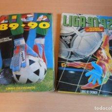 Coleccionismo deportivo: DOS ALBUMES EDITORIAL ESTE, TEMPORADAS 89/90 Y 91/92 CON UNOS 700 CROMOS PARA RECUPERAR. Lote 152044106