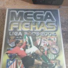 Coleccionismo deportivo: MEGAFICHAS PANINI 2004 CON 300 CROMOS DIFERENTES (LEER DESCRIPCIÓN). Lote 153212686