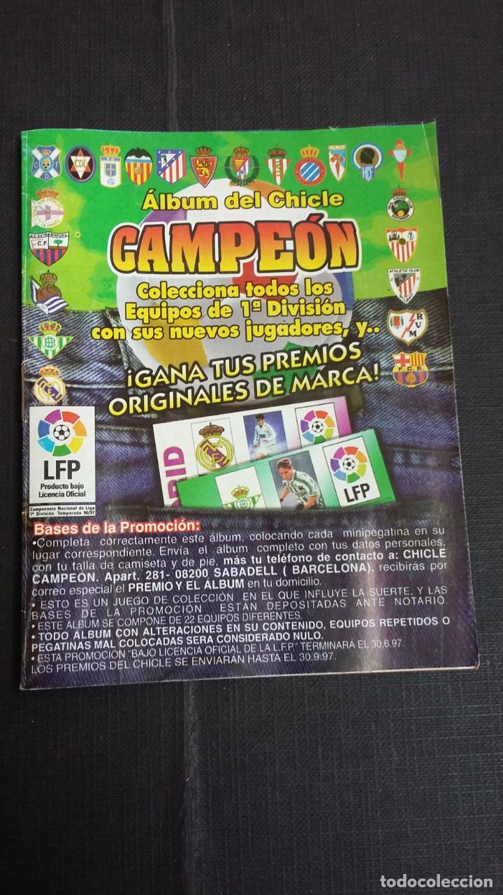 ÁLBUM DEL CHICLE CAMPEÓN 1996/1997 96 97 - CONTIENE 25 CROMOS (Coleccionismo Deportivo - Álbumes y Cromos de Deportes - Álbumes de Fútbol Incompletos)