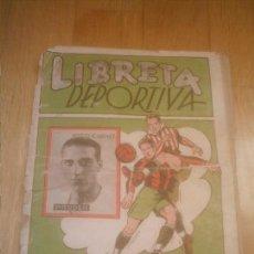 Coleccionismo deportivo: ALBUM LIBRETA DEPORTIVA CISNE 1942 2ª DIVISION INCOMPLETO. Lote 154209018