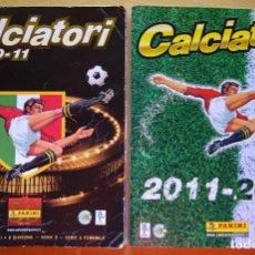Coleccionismo deportivo: 2 ÁLBUMES CON 1150 CROMOS FÚTBOL CALCIO ITALIA PANINI. CALCIATORI. LIGA 2010 211 Y 2011 2012. 910 GR. Lote 154511118