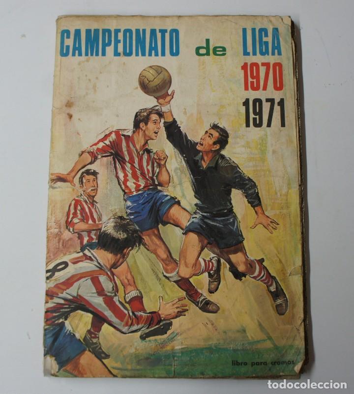 ALBUM DE CROMOS CAMPEONATO DE LIGA 1970 -71- FALTAN 6 CROMOS. (Coleccionismo Deportivo - Álbumes y Cromos de Deportes - Álbumes de Fútbol Incompletos)