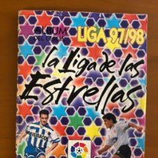 Coleccionismo deportivo: LA LIGA DE LAS ESTRELLAS 97 98 ALBUM DEL CHICLE CON 313 CROMOS SI NO SE ADJUDICA SE VENDEN SUELTOS. Lote 154968674