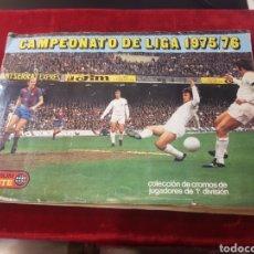 Coleccionismo deportivo: ÁLBUM CROMOS FÚTBOL 1975 1976 EDICIONES ESTE COMPLETO CON 21 ÚLTIMOS FICHAJES. Lote 155103194