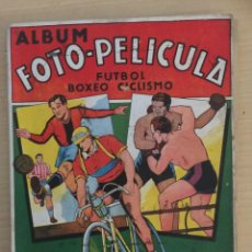 Coleccionismo deportivo: ALBUM FOTO - PELICULA FUTBOL BOXEO CICLISMO. INCOMPLETO. LEER. Lote 155209178