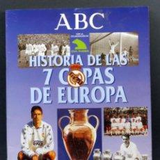 Coleccionismo deportivo: HISTORIA DE LAS 7 COPAS DE EUROPA ABC REAL MADRID 1998 ÁLBUM INCOMPLETO FALTAN 4 CROMOS. Lote 155617386
