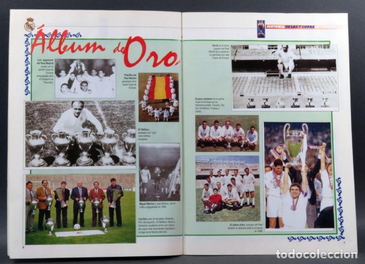 Coleccionismo deportivo: Historia de las 7 Copas de Europa ABC Real Madrid 1998 álbum incompleto faltan 4 cromos - Foto 2 - 155617386
