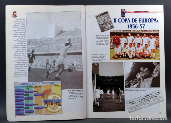 Coleccionismo deportivo: Historia de las 7 Copas de Europa ABC Real Madrid 1998 álbum incompleto faltan 4 cromos - Foto 3 - 155617386