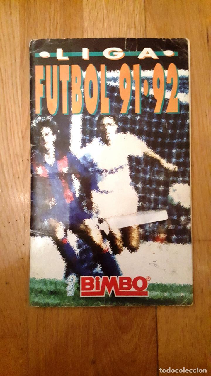 LIGA FÚTBOL 91-92 - BIMBO - CON 15 CROMOS DOBLES COMPLETO A FALTA DE 9 CROMOS (Coleccionismo Deportivo - Álbumes y Cromos de Deportes - Álbumes de Fútbol Incompletos)