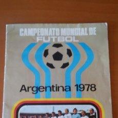 Coleccionismo deportivo: CAMPEONATO MUNDIAL DE FUTBOL ARGENTINA 1978 RUIZ ROMERO ALBUM CON 83 CROMOS. Lote 156510758