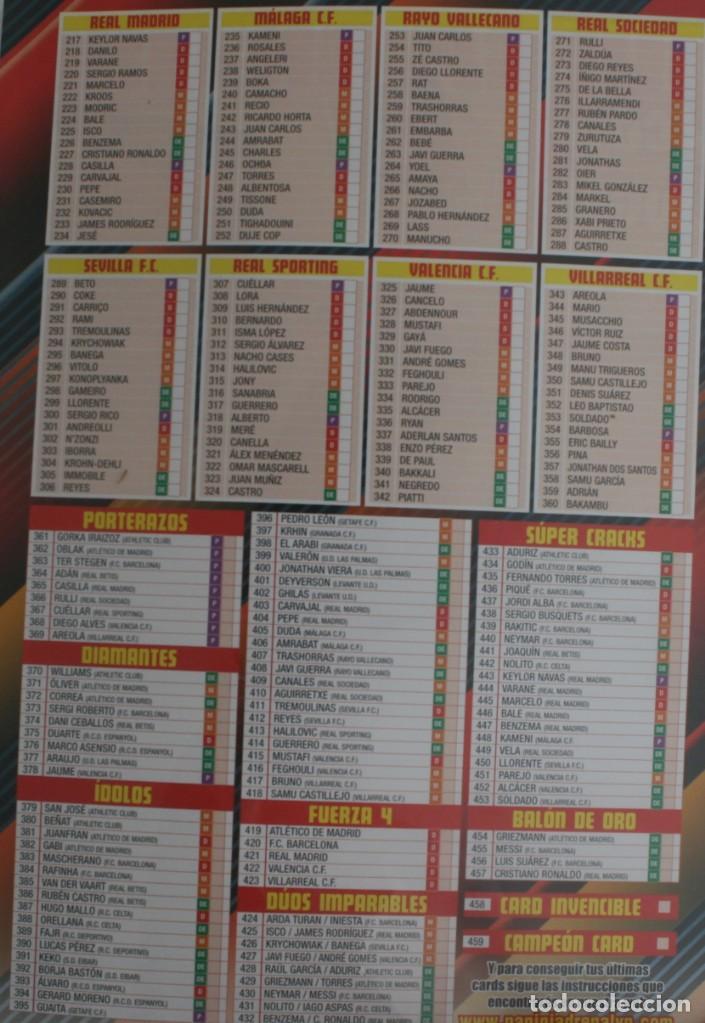 Coleccionismo deportivo: ALBUM CROMOS ESTAMPAS FUTBOL ADRENALYN 2015-16 LIGA BBVA TRADING CARD GAME PANINI LFP WORLD CHALLENG - Foto 6 - 156795682