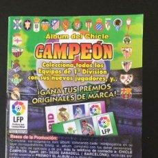 Coleccionismo deportivo: CAMPEON CHICLE MUCHOS CROMOS IDEAL PARA COMPLETAR SE VENDEN SUELTOS. Lote 156981262