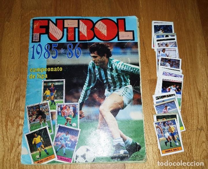 ALBUM FUTBOL 1985 / 86. CAMPEONATO DE LIGA. EDITORIAL LISEL + 42 CROMOS DOBLES NO PEGADOS EN EL ALBU (Coleccionismo Deportivo - Álbumes y Cromos de Deportes - Álbumes de Fútbol Incompletos)