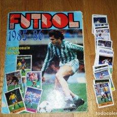 Coleccionismo deportivo: ALBUM FUTBOL 1985 / 86. CAMPEONATO DE LIGA. EDITORIAL LISEL + 42 CROMOS DOBLES NO PEGADOS EN EL ALBU. Lote 80073265