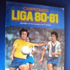 Coleccionismo deportivo: (AL-190400)ALBUM CAMPEONATO DE LIGA 80-81 EDITORIAL ESTE - MUCHOS DOBLES. Lote 158114502