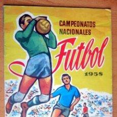 Coleccionismo deportivo: CAMPEONATOS NACIONALES FUTBOL 1958 RUIZ ROMERO IMPECABLE ALBUM , EN MUY BUEN ESTADO. Lote 158130254